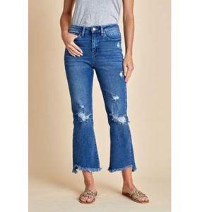 Social Threads Just Black Destructed Jeans